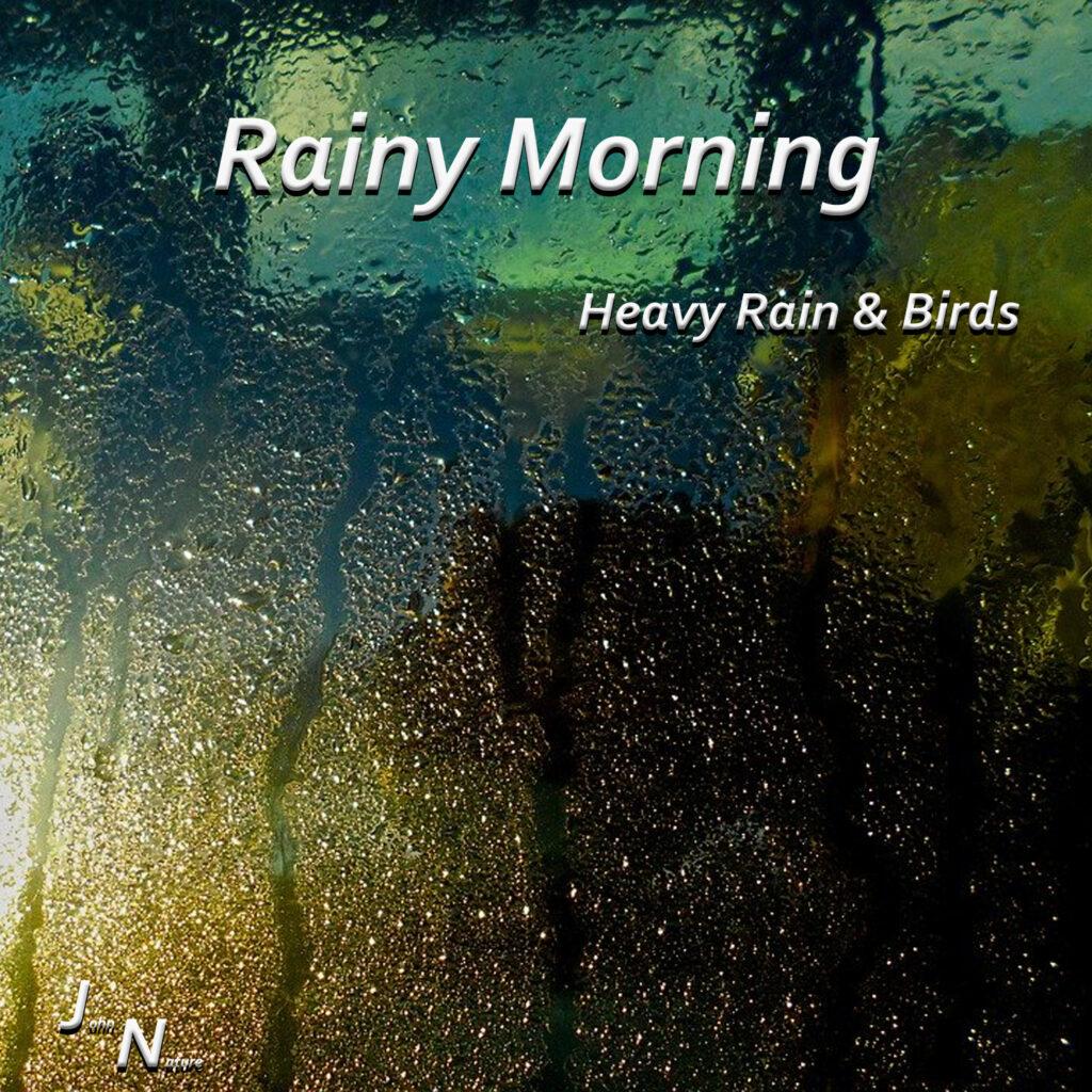 Verregneter Morgen. Regen- und Naturgeräusche
