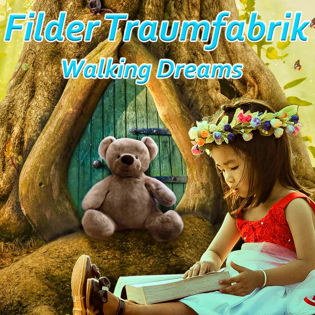 Walking Dreams Cover - Mädchen und Teddybär